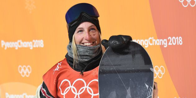 Canada's Laurie Blouin won silver in slopestyle at the PyeongChang