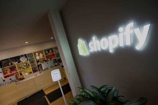 Shopify Inc. signage is at the company's Toronto
