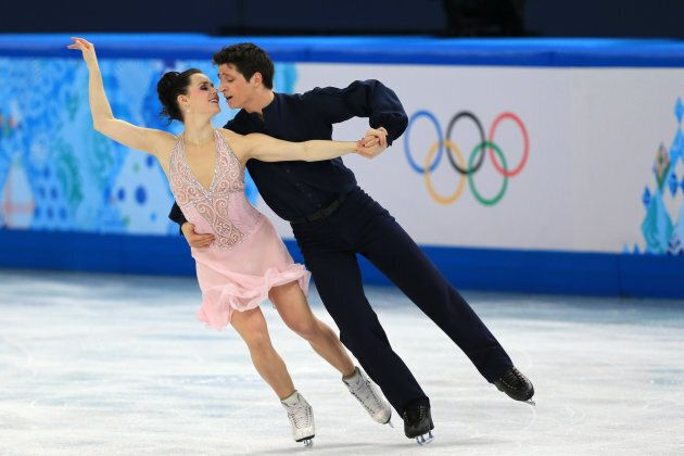 Virtue and Moir compete at the 2014 Winter Games in Sochi.