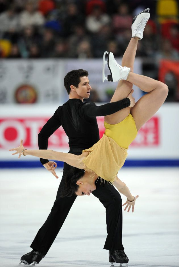 Virtue and Moir perform at the ISU World Figure Skating Championships on April 30, 2011 in Moscow.