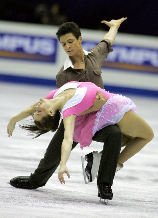 Virtue and Moir perform at Four Continents Figure Skating Championships in Goyang, South Korea in 2008.