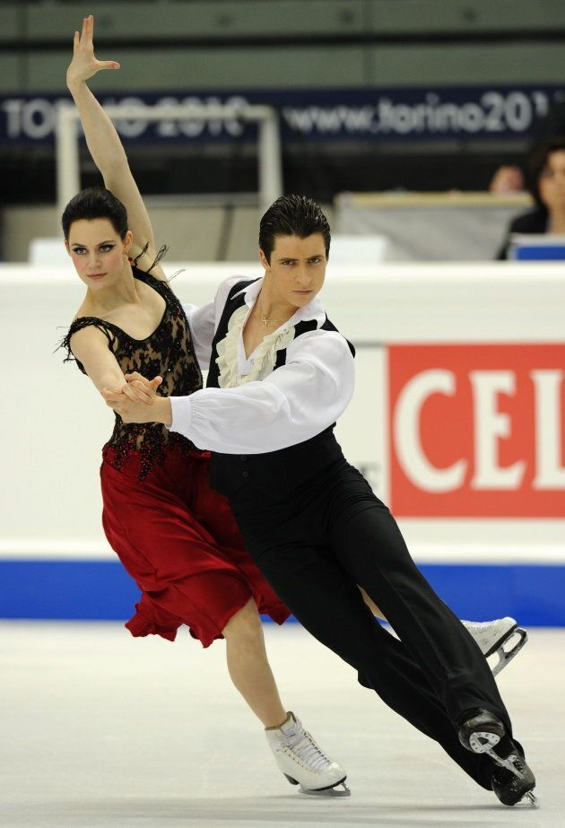 Virtue and Moir perform their original dance at the World Figure Skating Championships on March 25, 2010 in Turin, Italy.