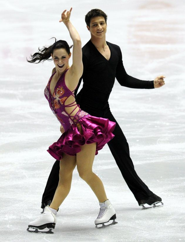 Virtue and Moir perform at the World Team Trophy 2012 competition in Tokyo on April 19, 2012.