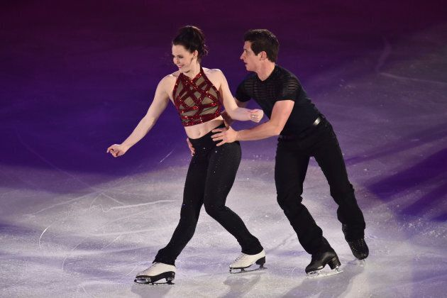 Virtue and Moir perform their routine at the 2015 Japan Figure Skating Championships on Dec. 28, 2015...