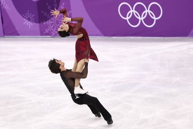 Virtue and Moir compete in the figure skating team event at the Pyeongchang 2018 Winter Olympic Games.