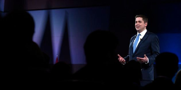 Conservative Leader Andrew Scheer speaks at the Manning Networking Conference in Ottawa on Feb. 9,