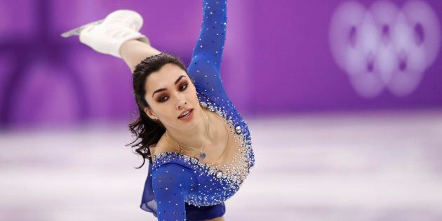 Gabrielle Daleman in the women's single free skating final during the team event at the PyeongChang Olympics Feb. 12.