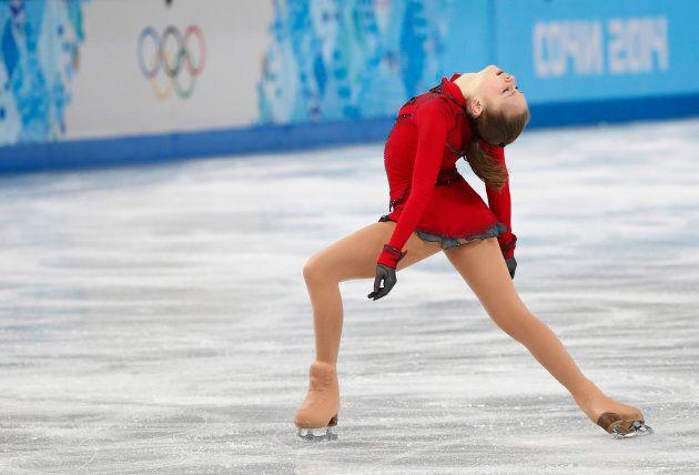Russia's Yulia Lipnitskaya competes during the Figure Skating Women's free skating Program at the Sochi 2014 Winter Olympics, Feb. 20, 2014.