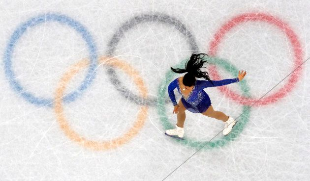 Gabrielle Daleman performs in the team event at the PyeongChang 2018 Winter Olympics on Feb 12, 2018.