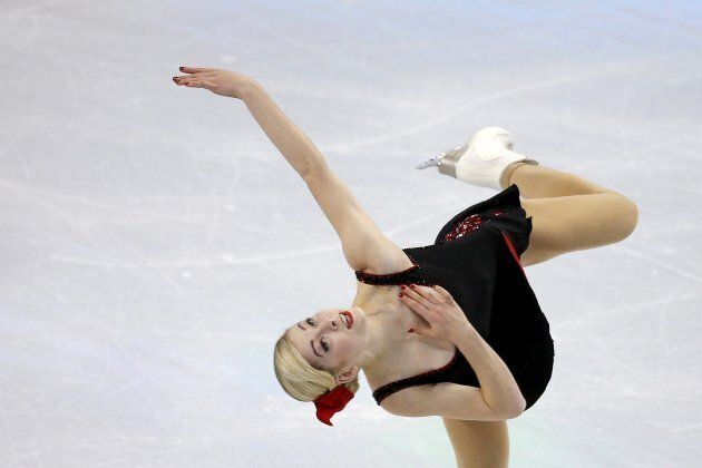 Gracie Gold of the United States competes in the World Figure Skating Championships in Boston in March, 2016.