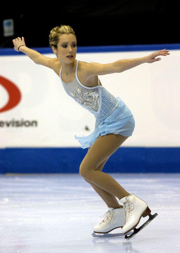 Jennifer Kirk competes Jan. 10, 2004 in the State Farm U. S. Figure Skating Championships.
