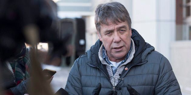 Former federal MP Peter Stoffer talks to reporters to address sexual harassment allegations in Halifax...