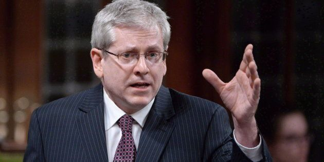 NDP MP Charlie Angus speaks in the House of Commons in Ottawa on April 12,