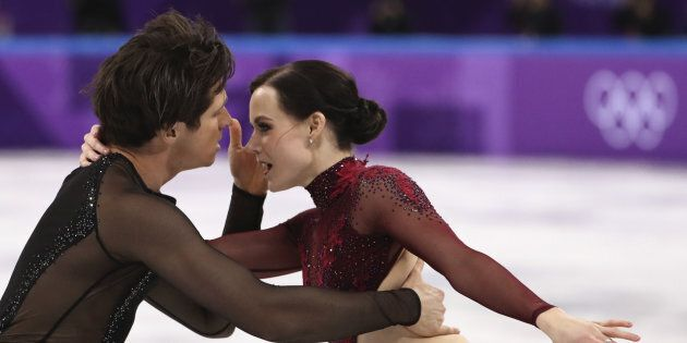 Tessa Virtue and Scott Moir in the Team Event Ice Dance Free Dance competition final at the PyeongChang 2018 Winter Olympics Feb. 12.