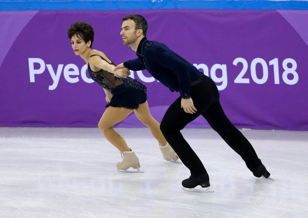 Canadian figure skaters Meagan Duhamel and Eric Radford.