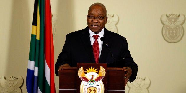 Jacob Zuma speaks Union Buildings in Pretoria, South Africa on