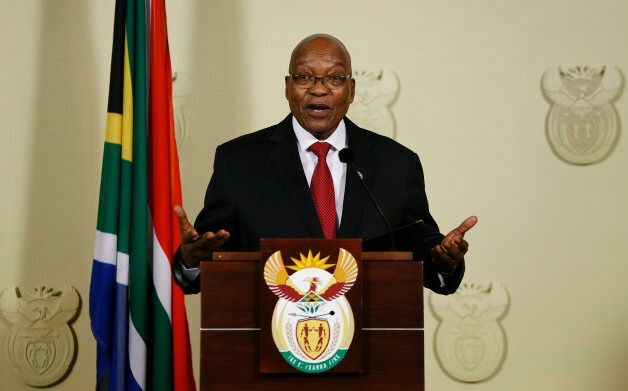 Jacob Zuma addresses South Africans at the Union Buildings in Pretoria on