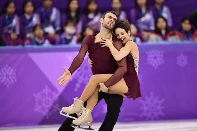 Canada's Meagan Duhamel and Eric Radford compete in the free skate during the pairs