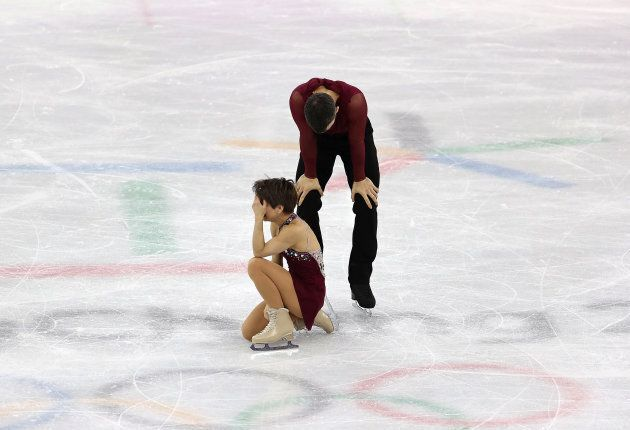 Canada's Meagan Duhamel and Eric Radford took bronze in the pairs