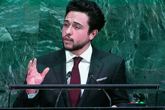 Jordan's Crown Prince Al Hussein bin Abdullah II addresses the U.N. General Assembly at the United Nations...
