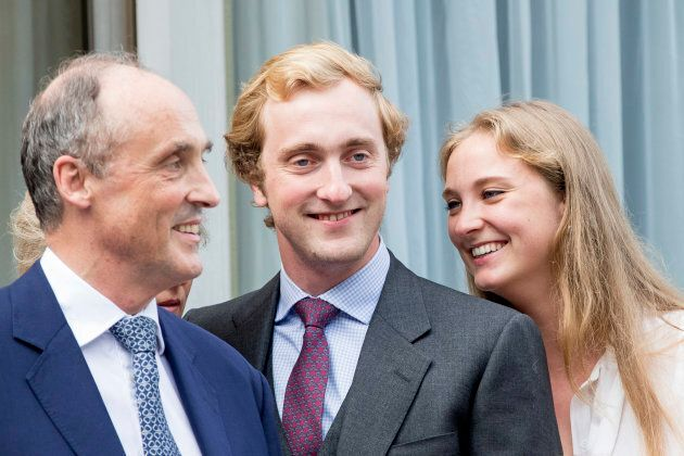 Prince Lorenz with Prince Joachim and Princess Luise Maria of Belgium.