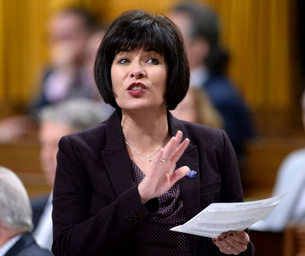 Minister of Health Ginette Petitpas Taylor rises during Question Period in the House of Commons on Parliament...