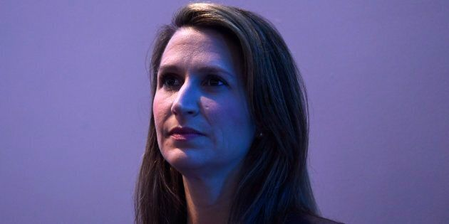 Ontario PC Party leadership candidate Caroline Mulroney waits to participate in a Q&A at the Manning...