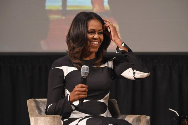Michelle Obama speaks onstage at The Streicker Center on Oct. 25, 2017 in New York