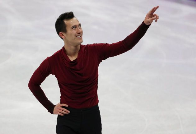 Patrick Chan competes in the Men Free Skating during the Figure Skating Team Event at the PyeongChang Olympics.