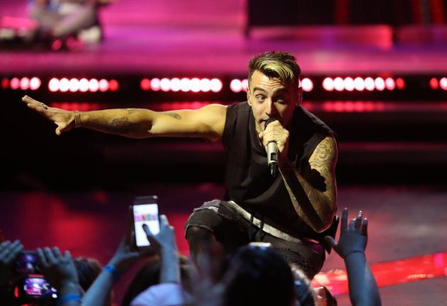 Hedley perform during the iHeartRadio Much Music Video Awards (MMVAs) in Toronto June 19,