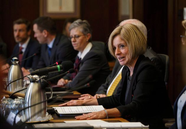 Alberta Premier Rachel Notley makes remarks before the first meeting of the Market Access Task Force...