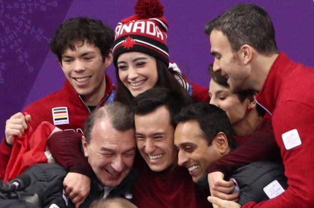 Patrick Chan helped Canada win gold in the team event in