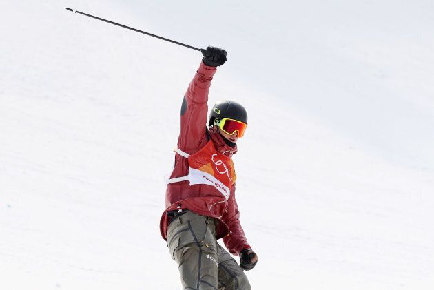 Alex Beaulieu-Marchand of Canada wins the bronze medal in the men's ski