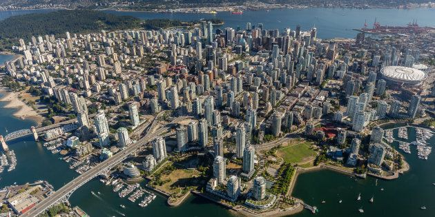 An aerial view of downtown Vancouver and the West End. British Columbia's attorney general says he's...