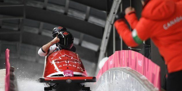 Canada's Alexander Kopacz and Justin Kripps have tied for a gold medal in the two-man