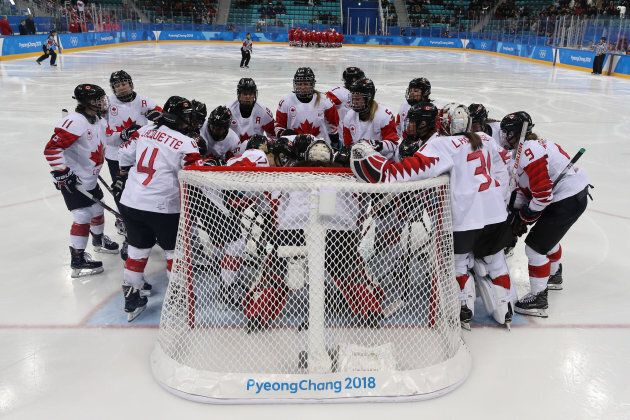 Team Canada prepares to play Olympic Athletes from Russia in their semi-final