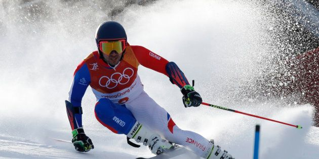 Mathieu Faivre of France competes in Pyeongchang Feb. 18,