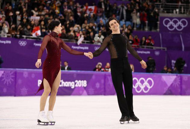 Gold medal winners Tessa Virtue and Scott Moir