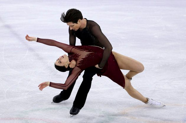 Tessa Virtue and Scott Moir compete during the ice dance free program at the 2018