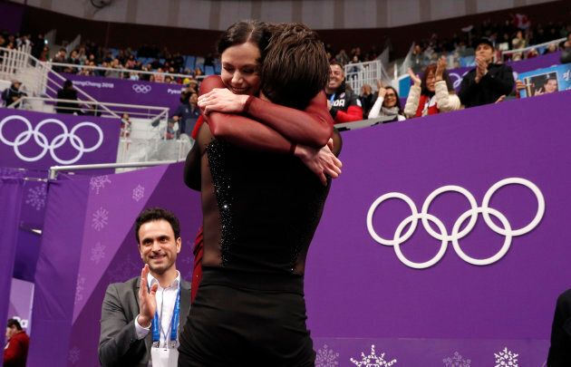 Tessa Virtue and Scott Moir on Feb.
