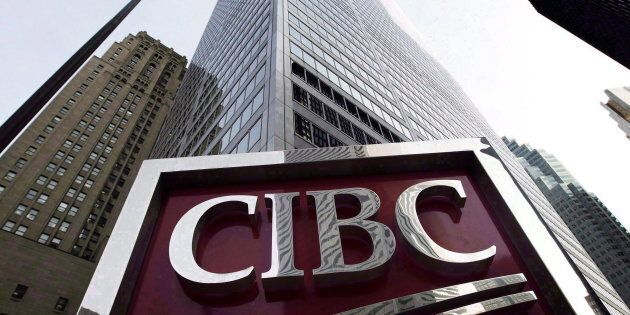 A CIBC sign in Toronto's financial district in downtown Toronto, Thurs. Feb. 26, 2009. CIBC is the first...