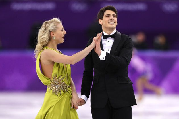Piper Gilles and Paul Poirier compete in the Figure Skating Ice Dance Free