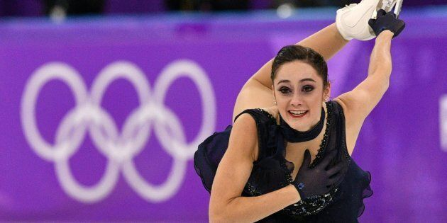 Canada's Kaetlyn Osmond competes in the women's single skating short