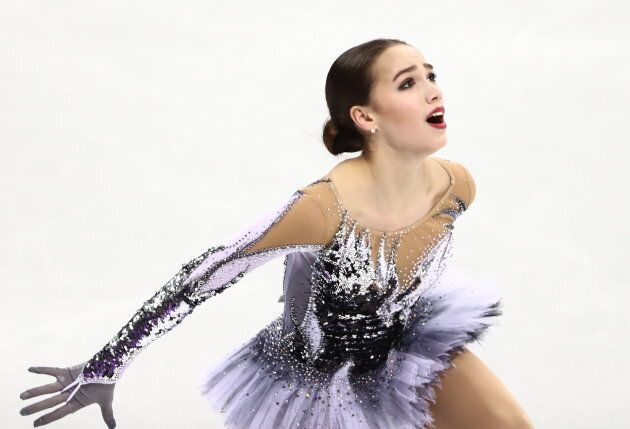 Figure skater Alina Zagitova, Olympic Athlete from Russia, scored a world record in the short