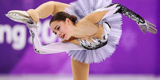 Alina Zagitova, an Olympic Athlete from Russia, performs Feb. 21, 2018. Zagitova earned a record 82.92...