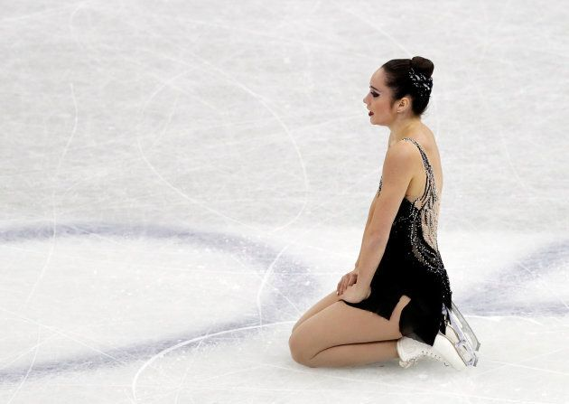 Kaetlyn Osmond after her performance at the ISU Grand Prix of Figure Skating Final in Nagoya, Japan on...