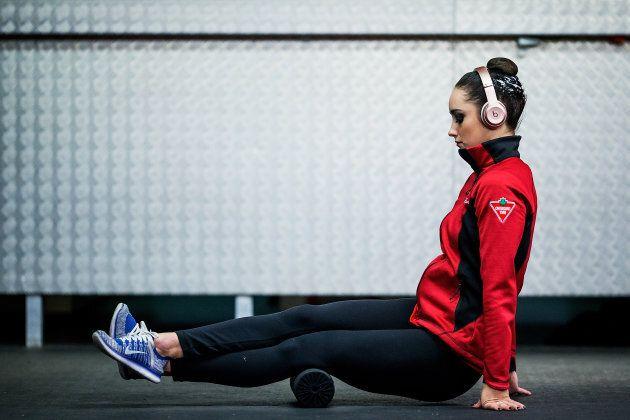 Kaetlyn Osmond warms up prior to the ISU Grand Prix of Figure Skating on Nov. 18,