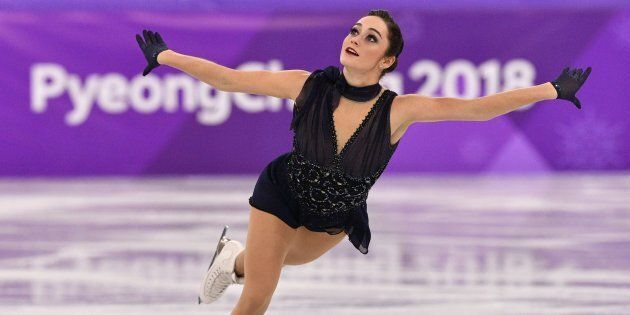 Kaetlyn Osmond competes in the women's single skating short program during the PyeongChang
