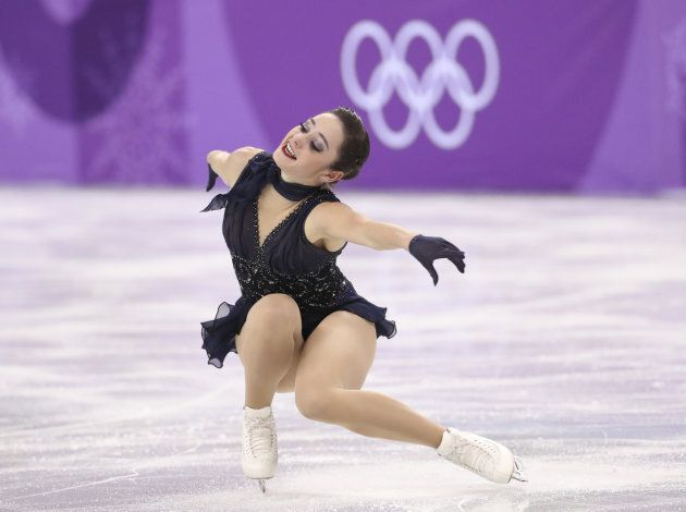Kaetlyn Osmond competes in the Team Event Women Single Skating short program at the 2018