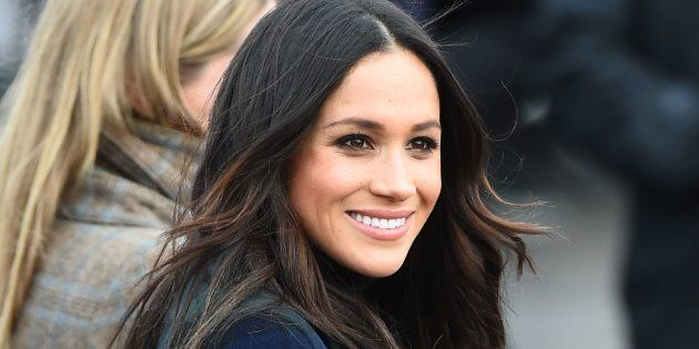 Meghan Markle takes part in a walkabout at Edinburgh